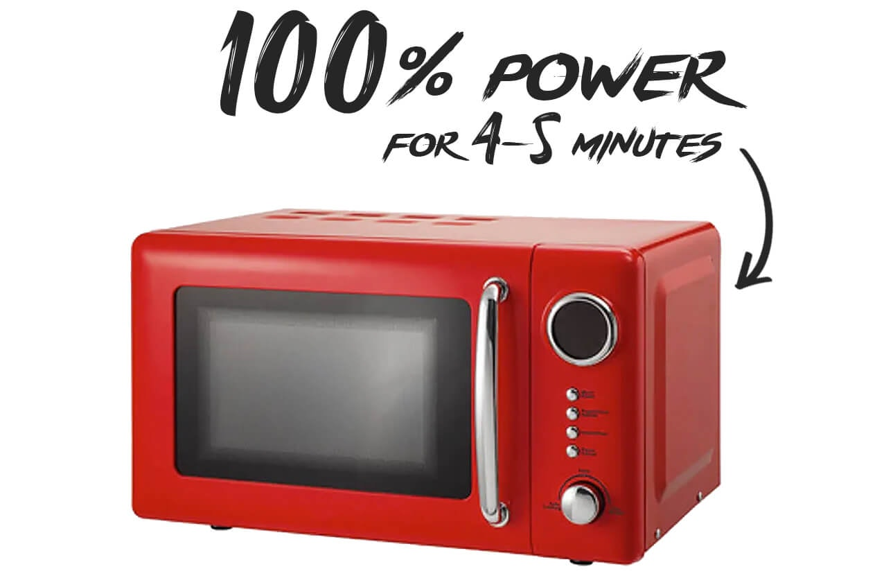 Microwave 100% function
